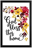 "Sketchfab ""God Bless This Home"" Wall Sign (Wooden, 30 cm x 20 cm)"