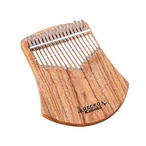 Gecko 17 Tasten Kalimba Afrikanischer Kampfer Holz Daumen Klavier, Finger Percussion