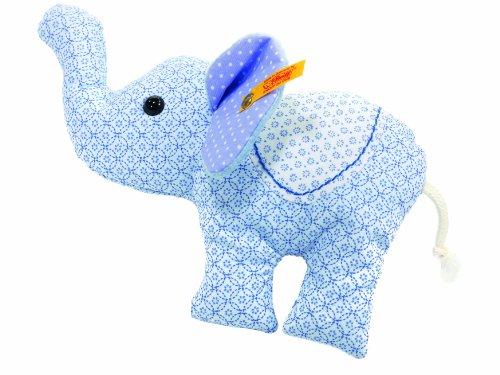 Steiff 235825 - Trampili Elefant Rassel 15 cm, hellblau