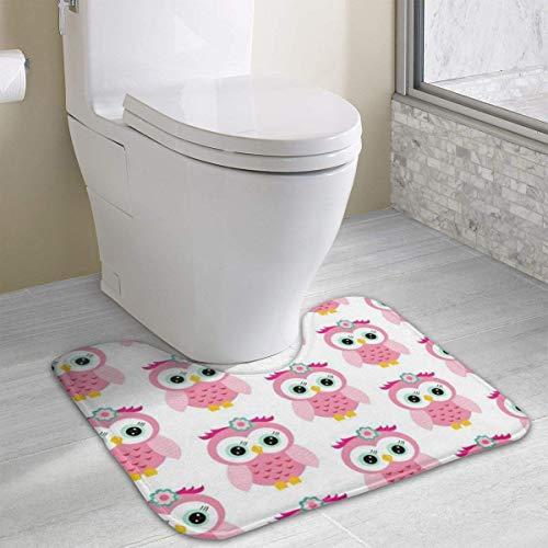 Hoklcvd Cartoon-Eule Rutschfeste Kontur Badematte für Toilette, saugfähiges Wasser, perfekt für Badezimmer. Kaufen Sie online Badematten zu den besten Preisen