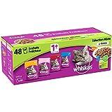 Whiskas Sélection Mixte en Gelée - Nourriture humide pour chat adulte - Alimentation complète en sachets fraîcheur - 48 x 100g