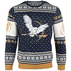 Harry Potter Christmas Jumper Ugly Sweater Hedwig for Men Women Boys and Girls [Importación alemana]