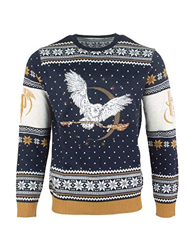 Harry Potter Christmas Jumper Ugly Sweater Hedwig for Men Women Boys and ()