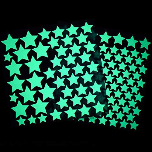 Leuchtsterne selbstklebend, 148 Premium Leucht-Wand-Sticker für Kinderzimmer, Sternenhimmel Leucht-Wand-Aufkleber als Zimmerdeko (Dekorationen The Dark Ideen Glow In)