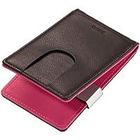 Troika, carte di credito tinta unita cellulare, braun/berry, 111 * 68 * 14 mm