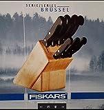 Messerblock Fiskars Brüssel 8tlg. Kochmesser Brotmesser...