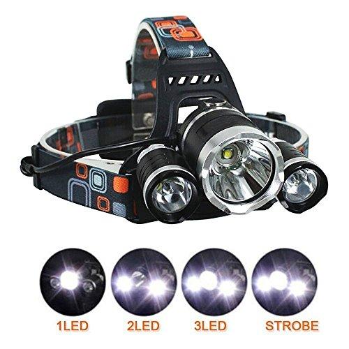 51Pw0kOpJVL. SS500  - BESTSUN Head Torch, LED Rechargeable Headlamp Headlight, 6000 Lumen Super Bright Head Lamp with 3 Lights 4 Modes, Hands…