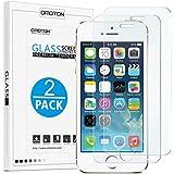 OMOTON [2-Pack] Pellicole protettive per iPhone SE/5S/5 Pellicola in vetro Temperato [3D Toccare Compatibile] [Elevata Durezza][Garanzi a Vita]