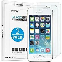 iPhone SE Protector de Pantalla OMOTON [2-Unidades] iPhone SE / 5S / 5 Cristal Templado [9H Dureza][Alta Definicion][Garantía  de por vida]