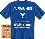 bedrucktes Karneval T-Shirt + Urkunde: WLAN Signal - coole lustige Fasching Herren Shirt Fastnacht Fun Geschenk