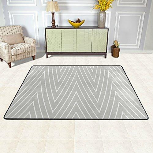 ISAOA weiß und grau mit moderner Teppich mit 3x 2m Lange Teppich Teppiche für Schlafzimmer und dininng Room, leicht, waschbar, Polyester, 36 x 24 inch - Teppich 24 Läufer 72