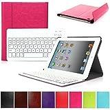 CoastCloud color rosado funda Cubierta protectora cuero PU con Teclado Inalambrico QWERTY espanol para ipad 2/ipad 3/ipad 4 con Bluetooth