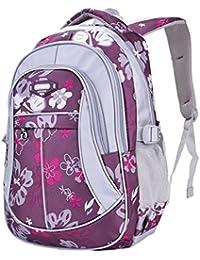 8724f28337b020 Unisex Zaino Scuola per Elementare e Media impermeabile Schoolbag Casuale  per Ragazze Scuola Borse Zaini Borsa