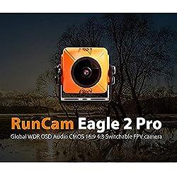 runcam Eagle 2 PRO 800TVL CMOS lente de 2,1 mm/2,5 mm 16: 9/4: 3ntsc/PAL conmutable Super WDR micrófono OSD FPV cámara baja latencia para Multicopter