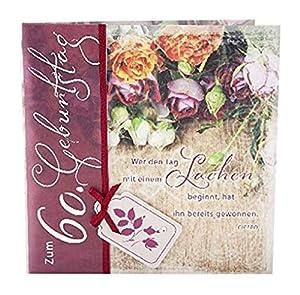 Depesche 4907.005Tarjeta de felicitación Emotions en diseño Elegante, 60cumpleaños, Multicolor