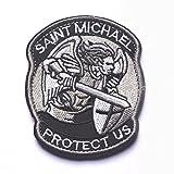 Gudeke PROTECT US SAINT MICHAEL Klettband Stoff Armbinde Aufkleber
