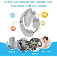 Elektrische Kopf-Massagegerät-Gehirn-Massage entspannen sich Akupunktur-Punkte graue Mode - preisvergleich