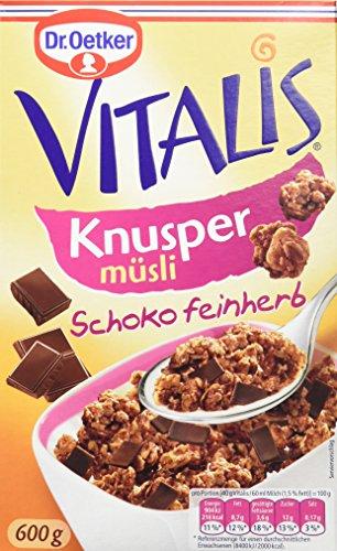 Dr. Oetker Vitalis Knusper Schoko feinherb, 5er Pack (5 x 600 g) (Herrliche Haferflocken)