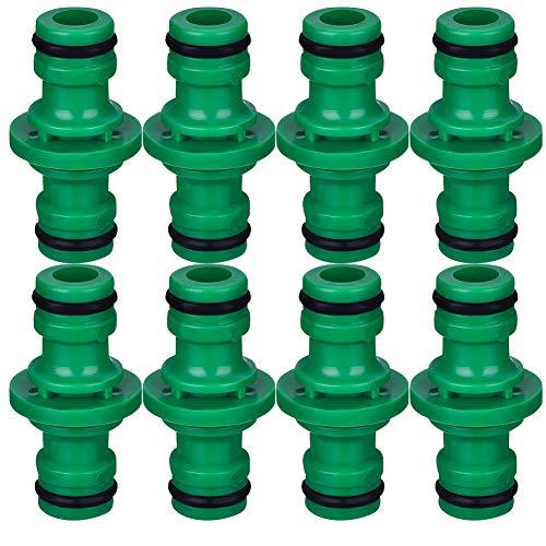 BESTZY Gartenschlauch Kupplung, 8 Stück Stecker Schlauchverbinder Kupplung Verbindungsteil Kunststoff Armaturen für Wasserleitungen (Grün)