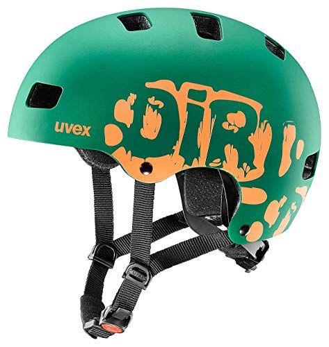 Uvex Bike Helmets Bike Helmets, Dirtbike DarkGreen Orange Mat, 51-55