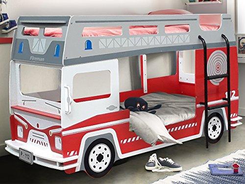 feuerwehrbett Etagenbett Hochbett Kinderbett Motivbett Autobett Bett Kindermöbel