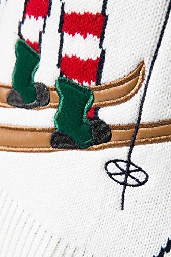 Pour Hommes Femmes 3D nouveauté Pull De Noël Threadbare tricoté Pull Col Rond Alberta Ski Elfe Marine