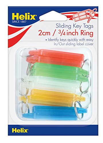 Helix Schlüsselanhänger mit Medium Label (12 mm Ring)