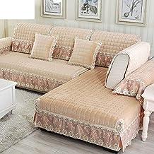 FERZA Home Estilo Europeo Moderno Sofá de Felpa Simple Cojines Sofá de Invierno-E 80x120cm