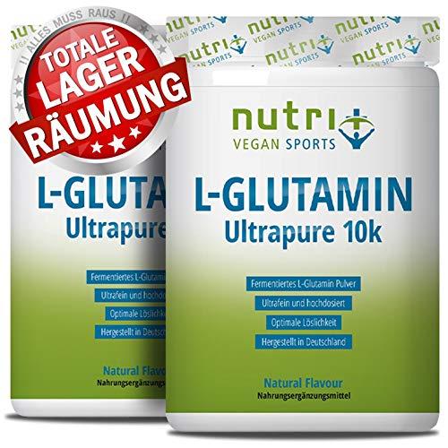 L-GLUTAMIN Pulver 1kg Ultrapure - 99,95{313cde5f4083f4adb948b7ef8ee66b7fa91b04a07db258a37fa126b5a31bf45d} rein - hochdosiert ohne Zusatzstoffe - Vegan - Doppelpack 1000g - Nutri-Plus L-Glutamine Powder - hergestellt in Deutschland