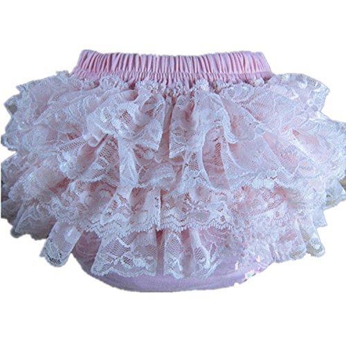 BuyHere buyhere Haustierhalsband mit Baby Girl 's Baumwolle Spitze Rüsche Unterhosen, Pink, X-Large Größe