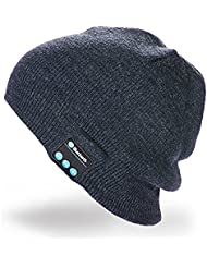 Bluetooth Hat Wireless Bluetooth Music Hat Winter Knitted Beanie Cap For Running Outdoor Sports Skiing Camping Hiking Thanksgiving Day Christmas Gifts(Dark gray)