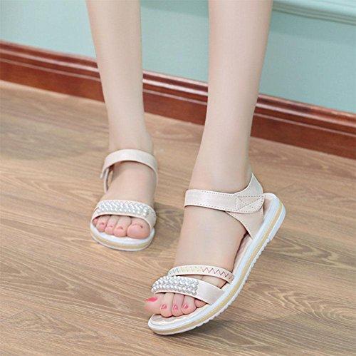 Flache Schuhe mit rutschfesten weichen Böden flacher Sandalen Frauen j
