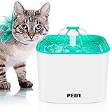 PEDY Fuente para Mascotas, Fuente de Agua Automática con Filtro de Carbón Activado para Perros y Gatos, Filtro Innovador y Saludable, Súper Silencioso y Gran Capacidad de Reemplazo 2L del Filtro