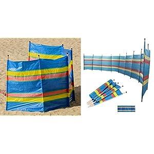51Pw76LevQL. SS300  - 5 Wooden Pole Windbreak Beach Holiday Camping Garden Wind Breaker Sun Shelter Wilsons Direct