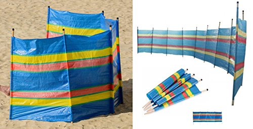 5 Wooden Pole Windbreak Beach Holiday Camping Garden Wind Breaker Sun  Shelter Wilsons Direct