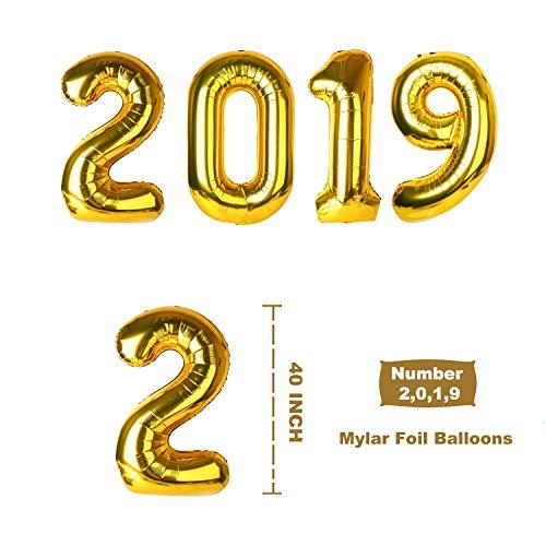 Zoom IMG-2 2019 palloncini decorazioni 40 oro