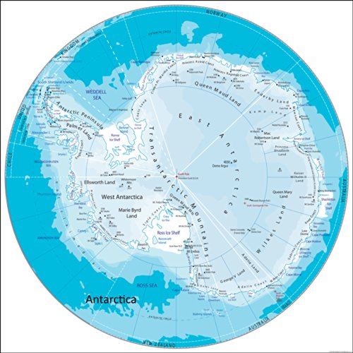 antarctica-map-paper-laminated-50-x-50-cm
