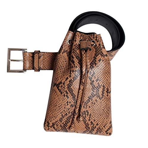 DAKERTA Schlangenmuster Gürteltasche Damen Multi Hüfttasche Taillenbeutel Umhängetasche Schultertasche mit Hüftgurt