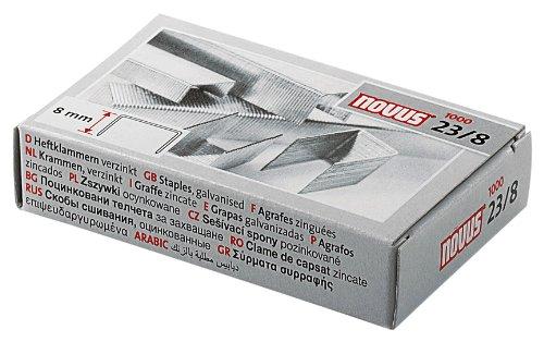 Novus Heftklammer für Blockheftgeräte mit einer Schenkellänge von 8 mm