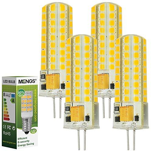 MENGS® 4 Stück G4 LED Lampe 7W AC/DC 12V Warmweiß 3000K 72x2835 SMD Mit Silikon Mantel -