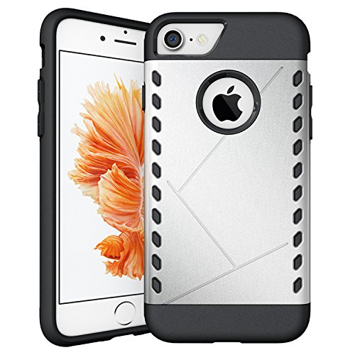 iProtect Apple iPhone 7, iPhone 8 Hülle Slim Hard Case Armor Shockproof Schutzhülle in grau silber.