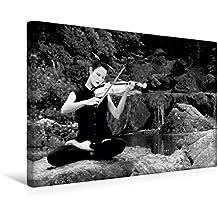 Premium Textil-Leinwand 45 cm x 30 cm quer, Calmando Monocromatico | Wandbild, Bild auf Keilrahmen, Fertigbild auf echter Leinwand, Leinwanddruck: Reisen: Musik als Meditation (CALVENDO Kunst)