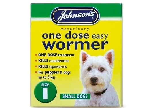 Johnson s Vet – Easy Dose Wormer Size 1 Small Dog 3 Tabs