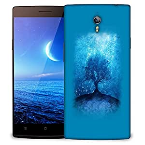 Snoogg Blue Tree Designer Protective Back Case Cover For OPPO FIND 7