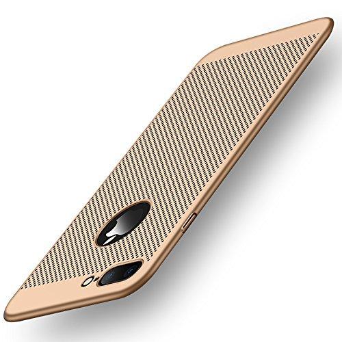 iPhone 7Plus case, Let your iPhone respirare Nxet® [] [calore] a nido d ape per Premium Deluxe elegante custodia slim antiurto protettiva opaca con cuscino d aria Gold