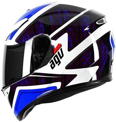 AGV K3SV Pulse DVS Full Face-Casco moto, color blanco/negro/azul