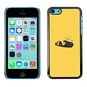 Omega Covers - Snap on Hard Back Case Cover Shell FOR Apple iPhone 5C - Sports Car Racing Yellow