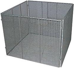 TrendLine Metall Komposter 100x100 cm Gartenkomposter Streckmetall Metallgitter