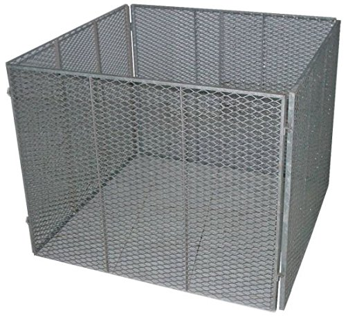 TrendLine Metall - Komposter 100 x 100 cm Gartenkomposter Streckmetall