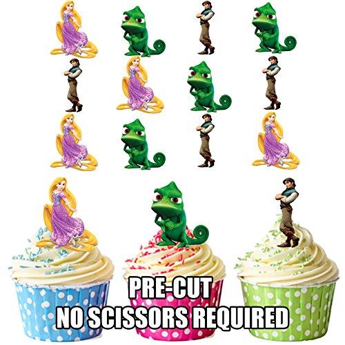 ney Tangled/Rapunzel–Essbare Cupcake Topper/Kuchen Dekorationen (12Stück) (Rapunzel-dekoration)